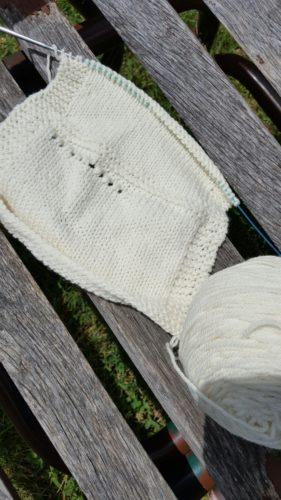 shepherds wool superwash swatch